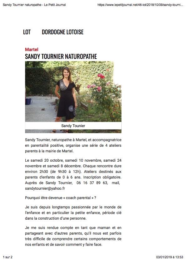 Le Petit journal 18 octobre 2018